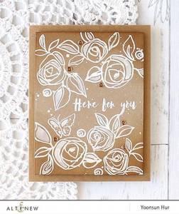 Bilde av Altenew Bamboo Rose Stamp Set