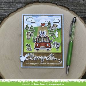 Bilde av Lawn Fawn Car Critters Stamp Set