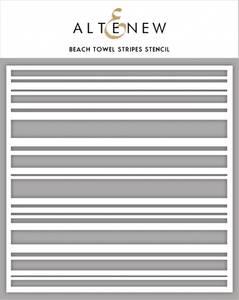 Bilde av Altenew Beach Towel Stripes Stencil