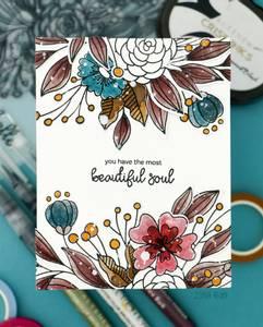 Bilde av Altenew Bouquet of Love Stamp Set