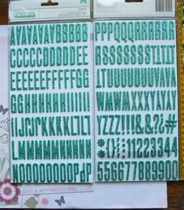 Bilde av American Crafts Fitzgerald Glitter Foam Stickers
