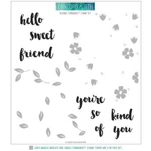 Bilde av Concord & 9th Blooms Turnabout Stamp Set