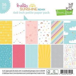 Bilde av Lawn Fawn Hello Sunshine Remix Petite Paper Pack