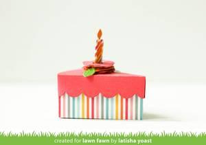 Bilde av Lawn Fawn Cake Slice Box Dies