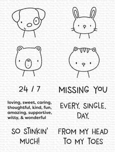 Bilde av MFT Missing You Every Single Day stamp set