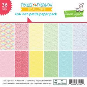 Bilde av Lawn Fawn Really Rainbow Scallops Petite Paper