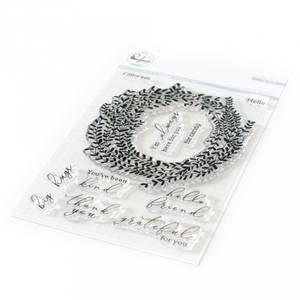 Bilde av Pinkfresh Studio Delicate Wreath stamp set