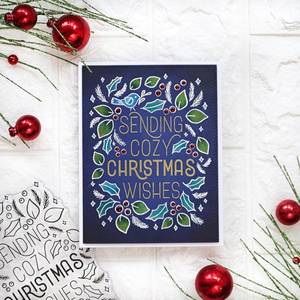 Bilde av Pinkfresh Studio Cozy Christmas Wishes stamp set