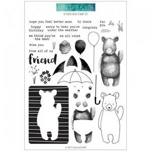 Bilde av Concord & 9th Hi There Bear Stamp Set