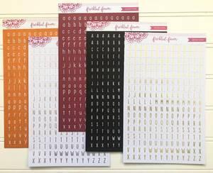 Bilde av Freckled Fawn Black Alphabet Stickers