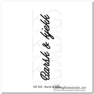 Bilde av Kort og Godt Die 263 - Barsk & kjekk