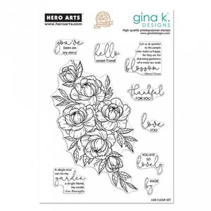 Bilde av Hero Arts + Gina K. Designs Friendship Blooms