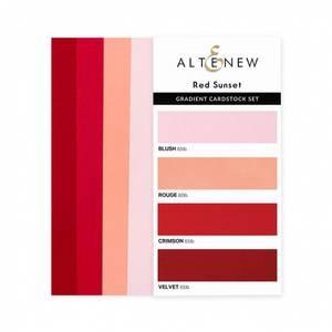 Bilde av Altenew Gradient Cardstock Set - Red Sunset