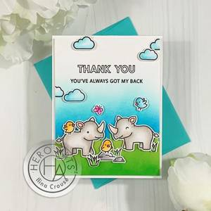 Bilde av Hero Arts + Lawn Fawn Big Thanks stamp set