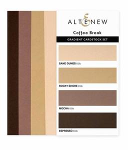 Bilde av Altenew Gradient Cardstock Set - Coffee Break