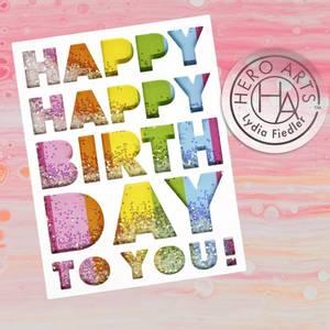 Bilde av Hero Arts Birthday Message Cover Plate