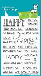 Bilde av Lawn Fawn Happy Happy Happy Stamp Set