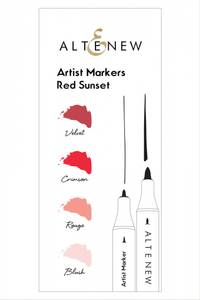 Bilde av Altenew Artist Markers Red Sunset Set