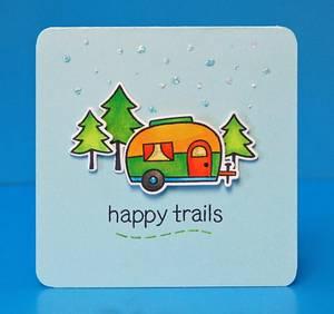 Bilde av Lawn Fawn Happy Trails Stamp Set