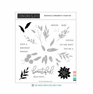Bilde av Concord & 9th Botanical Turnabout Stamp Set