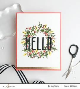 Bilde av Altenew Blossom Wreath Stamp Set