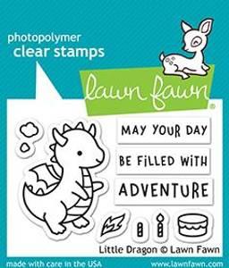 Bilde av Lawn Fawn Little Dragon stamp set