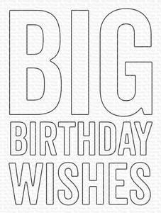 Bilde av MFT Big Birthday Wishes die