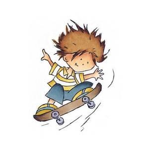 Bilde av Marianne Design Don & Daisy Skateboard Don Stamp