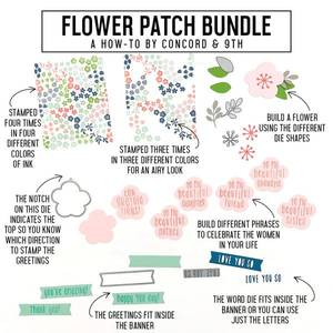Bilde av Concord & 9th Flower Patch dies