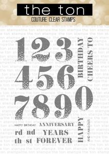 Bilde av The Ton Mega Confetti Numbers stamp set