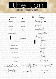 Bilde av The Ton Easy Expressions stamp & die bundle