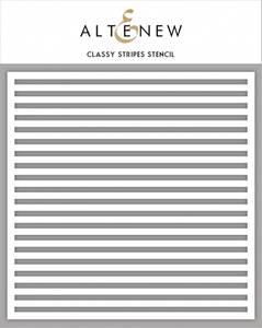 Bilde av Altenew Classy Stripes Stencil