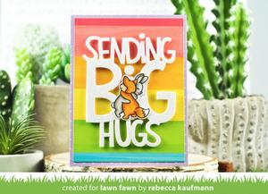 Bilde av Lawn Fawn Happy Hugs Stamp Set