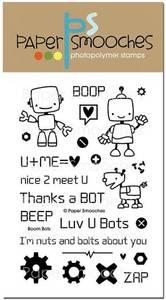 Bilde av Paper Smooches Boom Bots Stamp Set