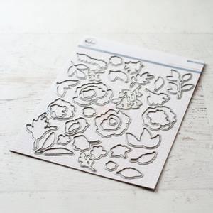 Bilde av Pinkfresh Studio Embroidered Blossoms die set