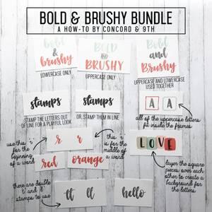 Bilde av Concord & 9th Bold & Brushy Uppercase Stamp Set