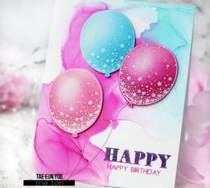 Bilde av The Ton Confetti Balloons stamp set