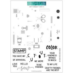 Bilde av Concord & 9th Crafty Turnabout Stamp Set