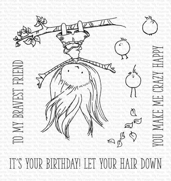 MFT Let Your Hair Down stamp set