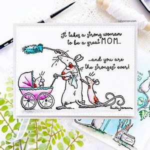 Bilde av 3C/ Anita Jeram - Amazing Mom stamp set