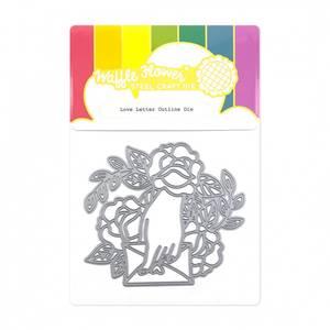 Bilde av Waffle Flower Love Letter Outline Die