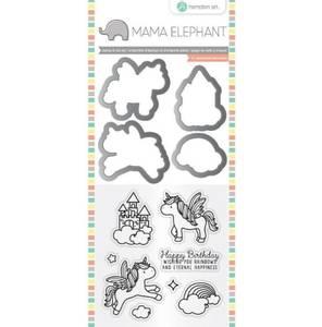 Bilde av Mama Elephant Unicorn Stamp & Die Set