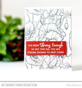 Bilde av MFT Poppies Background stamp