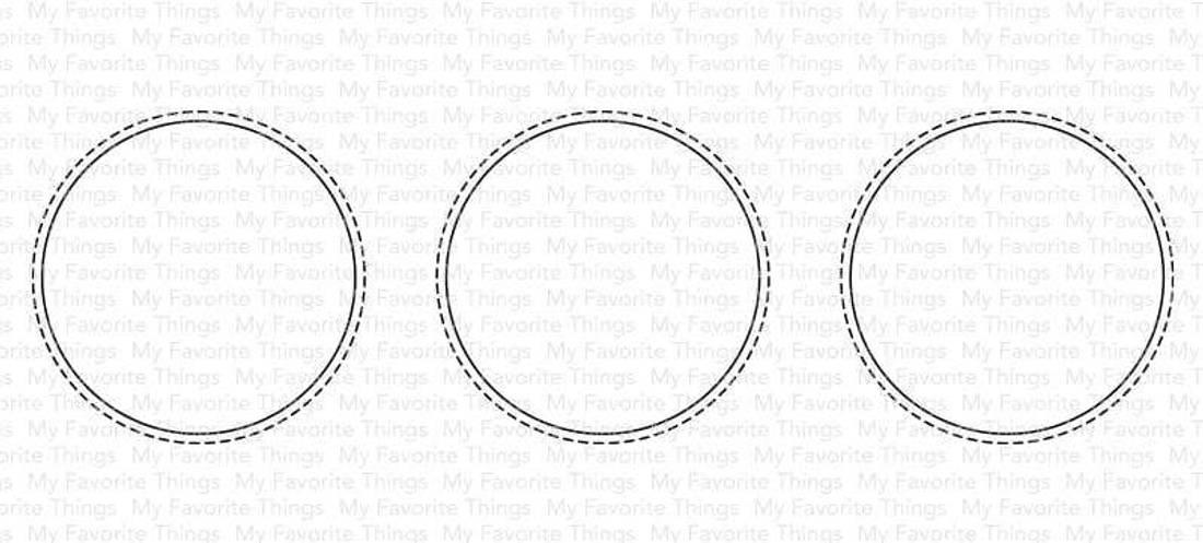 MFT Slimline Stitched Circle Trio die