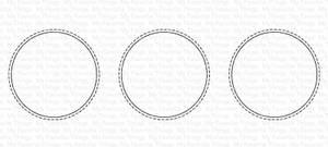 Bilde av MFT Slimline Stitched Circle Trio die
