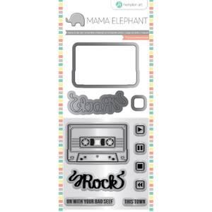 Bilde av Mama Elephant Mix Tape Stamp & Die Set