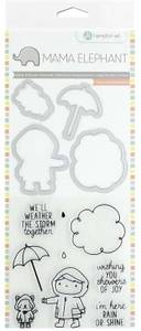 Bilde av Mama Elephant Showers of Joy Stamp & Die Set