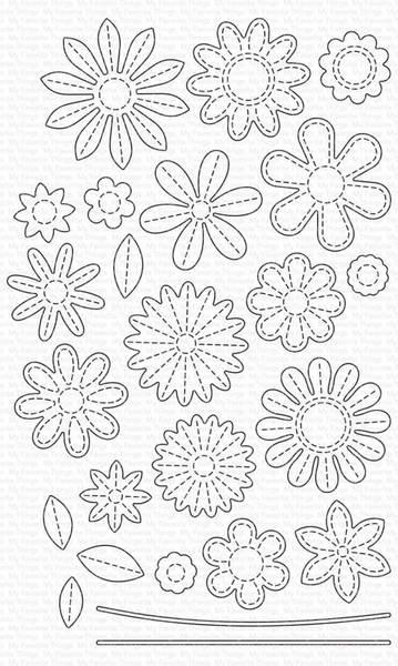 MFT Stitches Flowers dies