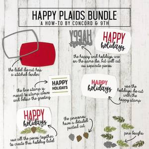 Bilde av Concord & 9th Happy Holidays Label Dies