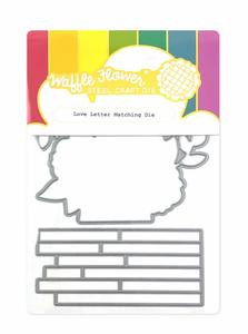 Bilde av Waffle Flower Love Letter Matching Die